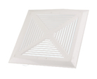 "Reversomatic Exhaust Fan Aluminium Grille, White, 11-1/8"" x 11-1/8"""